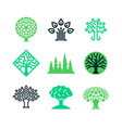 green nature tree logo eco education vector image vector image