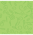 green seamless curly floral texture vector image vector image