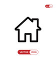 home icon house real estate residential symbol vector image vector image