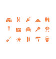 isolated construction tools icon set design vector image vector image