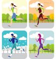 jogging all year round vector image vector image