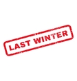 Last Winter Text Rubber Stamp vector image vector image