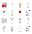 liquor and restaurant icon vector image vector image