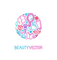logo design template made with icons in trendy vector image vector image