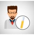 male scientist laboratory icon test tube vector image vector image