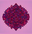 mandala pattern on violet background vector image