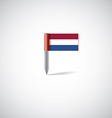 Netherlands flag pin vector image
