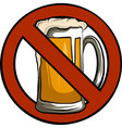 no beer sign isolated with vector image