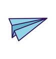 paper plane creativity idea play toy icon vector image