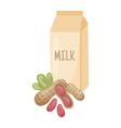peanut milk vector image vector image
