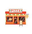 pizza shop flat pizzeria vector image