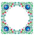 Polish floral folk embroidery frame pattern vector image vector image
