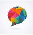 Polygonal geometric 3D speech bubble