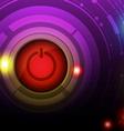 power button design vector image vector image