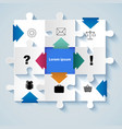 puzzle with icons for business concepts vector image