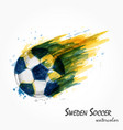 realistic watercolor painting of powerful sweden vector image vector image