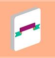 ribbon computer symbol vector image vector image