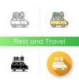 road trip icon vector image