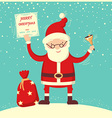 Santa Claus and christmas bell vector image vector image