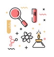 set icons on theme science vector image vector image