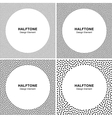 Set of Abstract Halftone Dots Frame Backgrounds vector image vector image