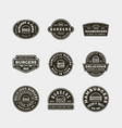 set of burger logos retro styled fast food vector image vector image