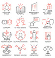 Set of icons related to business management -28 vector image vector image