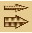 set trendy vintage arrows on old paper vector image vector image