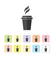 silhouette of coffee and tea cup isolated vector image vector image