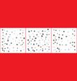 silver sparkle star confetti on white background vector image