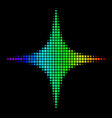 spectrum dot space star icon vector image