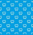 stomatology pattern seamless blue vector image vector image