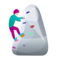 student wall climbing icon cartoon style vector image vector image