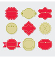 Stylish red and green empty template labels set vector image vector image