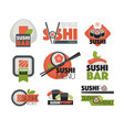 sushi bar or japanese restaurant chopsticks vector image vector image