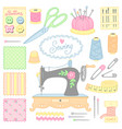 tools for sewing vector image