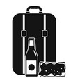 travel bag lunch icon simple style vector image