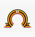 ugandan flag rounded abstract background vector image vector image