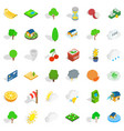 vital icons set isometric style vector image vector image