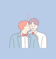 wedding love feeling lgbt marriage concept vector image