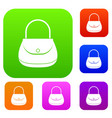 woman bag set color collection vector image vector image