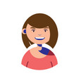 woman character people flat image vector image vector image