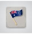 Australia flag icon vector image