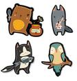 Kids animals vector image