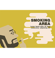 Poster smoking area earth tone vector image