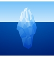 Iceberg Background In Low Poly Style vector image