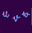 3d gradient lettering holographic font set with vector image vector image