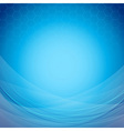 Abstract blue background template with waves vector image
