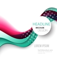 Abstract curved lines background Template brochure vector image vector image