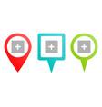 add box multicolor pin icon different vector image vector image